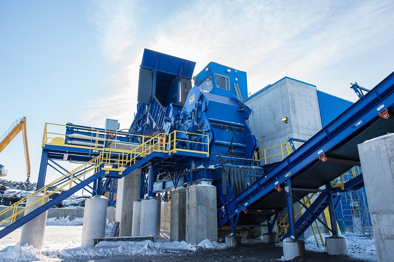 Model 106 HEAVY Shredder Plant