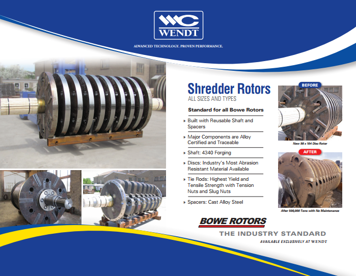 WENDT Automobile Shredder Rotors