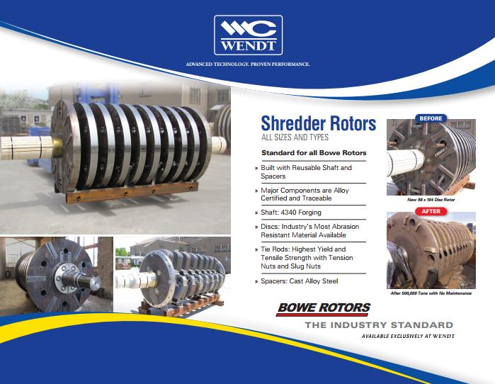 WENDT Automobile Shredder Rotors