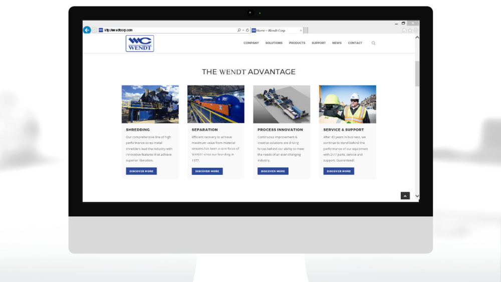 Website Launch | WENDT CORPORATION
