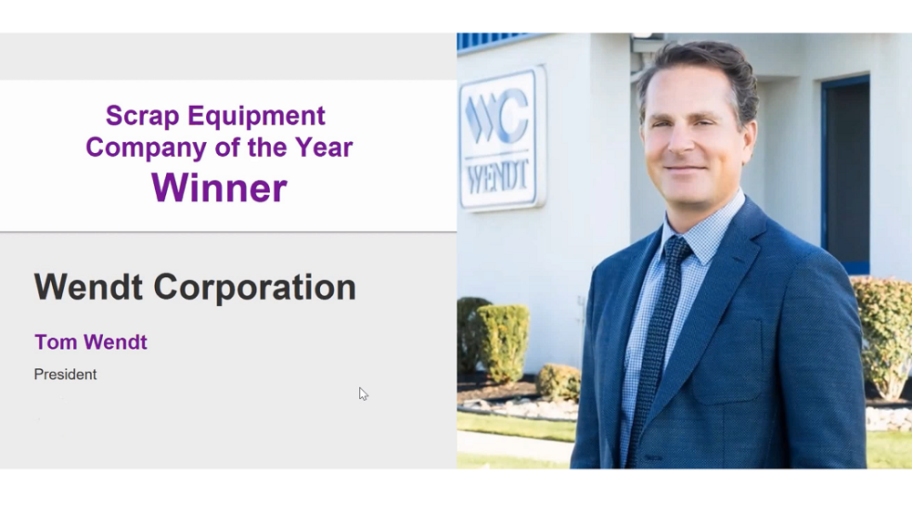 WENDT Selected as Scrap Equipment Company of the Year